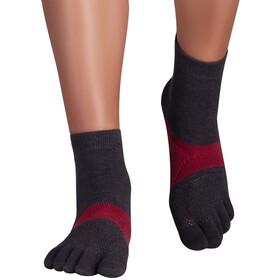 Knitido Running TS Socks, grey/carmine red